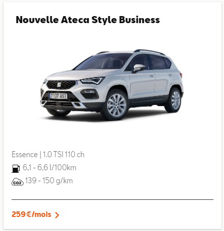 Nouvelle Ateca Style Business